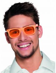 Óculos cor de laranja fluo anos 50 adulto