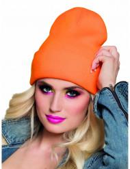 Gorro cor de laranja fluo adulto
