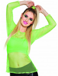 Camisola verde fluo anos 80 mulher