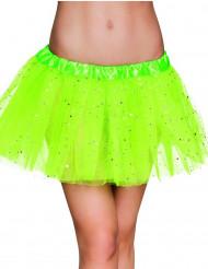 Tutu verde fluo estrela cintilante mulher
