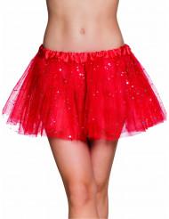 Tutu vermelho estrelas cintilantes mulher