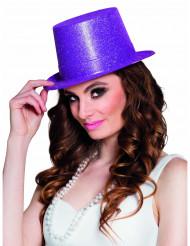 Chapéu alto lilás brilhante adulto