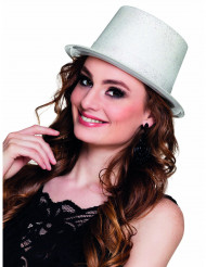 Chapéu alto lilás branco adulto