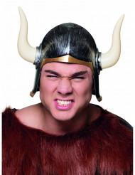 Capacete viking com chifres adulto