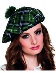 Boina escocesa verde adulto