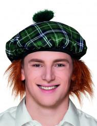 Boina escocesa verde com cabelos adulto