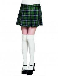Kilt escocês verde mulher