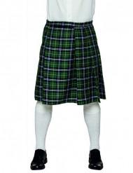 Kilt escocês verde homem