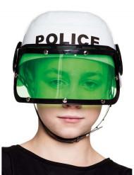Capacete polícia branco criança