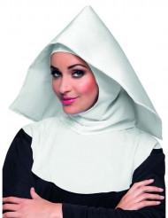 Véu de freira branco adulto