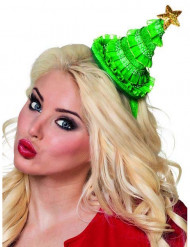 Mini chapéu pinheiro mulher Natal