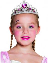 Tiara de princesa coração menina