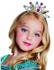 Tiara de princesa colorida menina