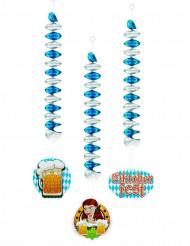 3 Decorações para pendurar 60 cm Oktoberfest