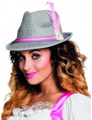 Chapéu bávaro cor de rosa adulto