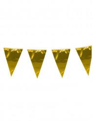 Grinalda de bandeirolas douradas 10 m
