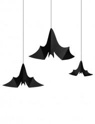 3 Decorações para pendurar morcego Halloween