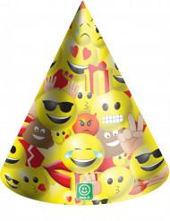 6 Chapéus de festa em cartão Emoji™