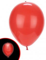 5 Balões LED vermelhos Illooms®