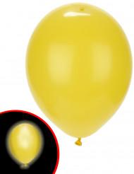 5 Balões LED amarelos Illooms®