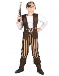 Disfarce pirata musculoso crianças