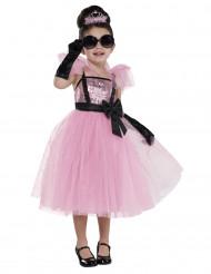 Disfarce diva glamour cor-de-rosa menina