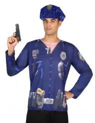 T-shirt polícia homem