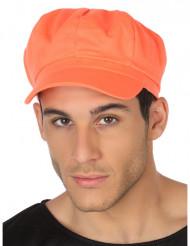 Boné cor de laranja fluo adulto