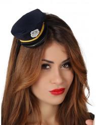 Mini boné polícia mulher