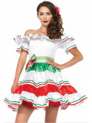 Disfarce senhorita mexicana sexy mulher
