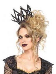 Coroa imperial preta e dourada mulher