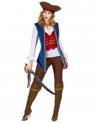 Disfarce pirata veludo mulher