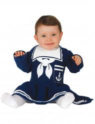 Disfarce vestido marinheiro azul bebé