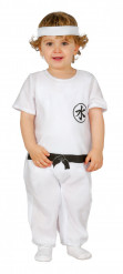 Disfarce Mestre ninja branco bébé
