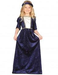Disfarce Dama medieval azul menina