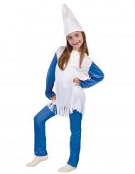 Disfarce pequeno anão azul menina