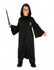 Disfarce estudante feiticeiro menino