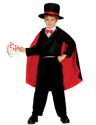 Disfarce de mágico menino