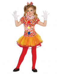 Disfarce palhaço colorido para menina
