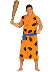 Disfarce Homem das cavernas cor de laranja adulto