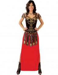 Disfarce vestido comprido geurreira mulher