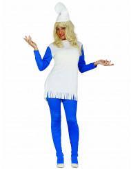 Disfarce Vestido anão azul mulher