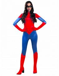 Disfarce aranha vermelha e azul mulher