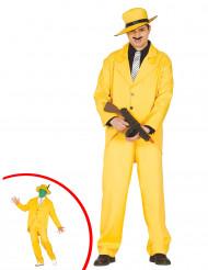 Disfarce bandido amarelo adulto