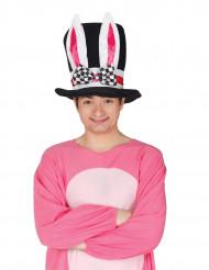 Chapéu alto com orelhas de coelho adulto