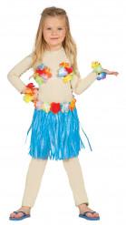 Kit havaiano azul criança