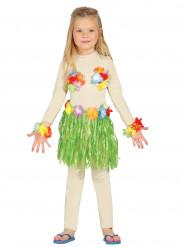 Kit havaiano verde criança