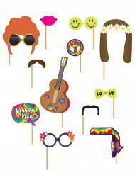 Kit Photobooth Hippie 12 acessórios