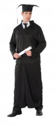 Disfarce túnica preta adulto