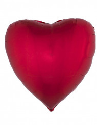 Balão alumínio coração vermelho 45 cm